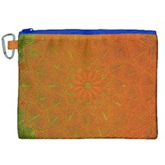 Background Paper Vintage Orange Canvas Cosmetic Bag (xxl) by Celenk