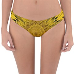 Pattern Petals Pipes Plants Reversible Hipster Bikini Bottoms by Celenk