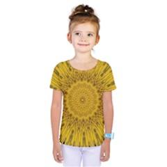 Pattern Petals Pipes Plants Kids  One Piece Tee by Celenk