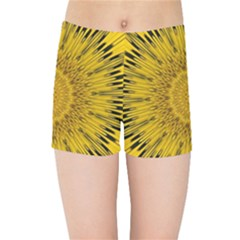 Pattern Petals Pipes Plants Kids Sports Shorts by Celenk