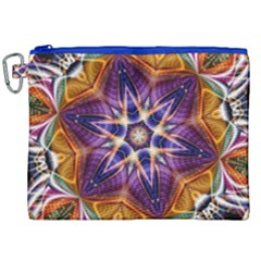 Kaleidoscope Pattern Kaleydograf Canvas Cosmetic Bag (xxl) by Celenk