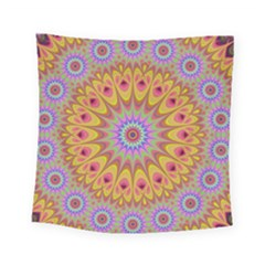 Geometric Flower Oriental Ornament Square Tapestry (small)