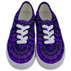 Purple Kaleidoscope Mandala Pattern Kids  Classic Low Top Sneakers