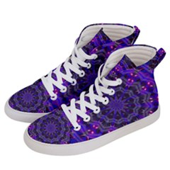 Purple Kaleidoscope Mandala Pattern Women s Hi-top Skate Sneakers by Celenk