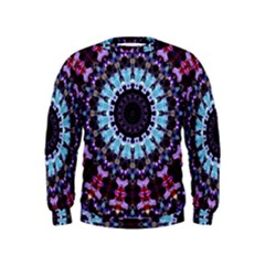 Kaleidoscope Shape Abstract Design Kids  Sweatshirt
