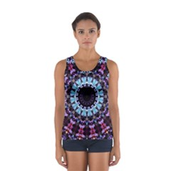 Kaleidoscope Shape Abstract Design Sport Tank Top