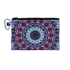 Kaleidoscope Shape Abstract Design Canvas Cosmetic Bag (medium)