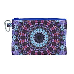 Kaleidoscope Shape Abstract Design Canvas Cosmetic Bag (large) by Celenk