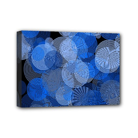 Circle Rings Abstract Optics Mini Canvas 7  X 5  by Celenk