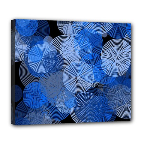 Circle Rings Abstract Optics Deluxe Canvas 24  X 20   by Celenk