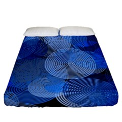Circle Rings Abstract Optics Fitted Sheet (queen Size) by Celenk