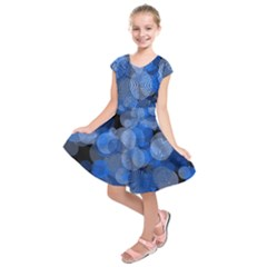 Circle Rings Abstract Optics Kids  Short Sleeve Dress by Celenk