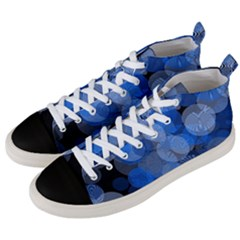 Circle Rings Abstract Optics Men s Mid Top Canvas Sneakers by Celenk