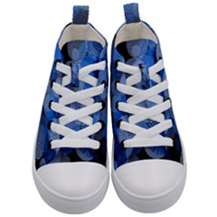 Circle Rings Abstract Optics Kid s Mid Top Canvas Sneakers