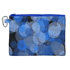 Circle Rings Abstract Optics Canvas Cosmetic Bag (xl) by Celenk
