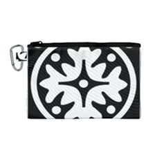 Mandala Pattern Mystical Canvas Cosmetic Bag (medium) by Celenk