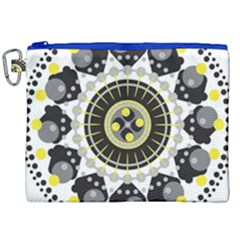 Mandala Geometric Design Pattern Canvas Cosmetic Bag (xxl) by Celenk