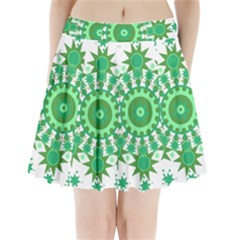 Mandala Geometric Pattern Shapes Pleated Mini Skirt