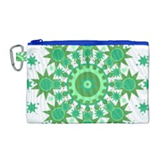 Mandala Geometric Pattern Shapes Canvas Cosmetic Bag (large) by Celenk