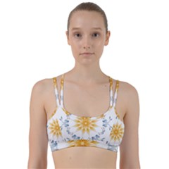 Mandala Mermaid Lake Rose Swimmers Line Them Up Sports Bra