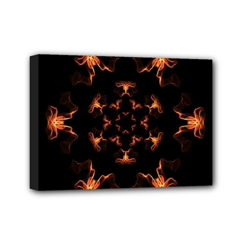 Mandala Fire Mandala Flames Design Mini Canvas 7  X 5