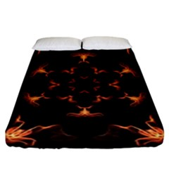 Mandala Fire Mandala Flames Design Fitted Sheet (king Size) by Celenk