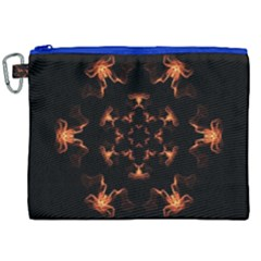 Mandala Fire Mandala Flames Design Canvas Cosmetic Bag (xxl) by Celenk