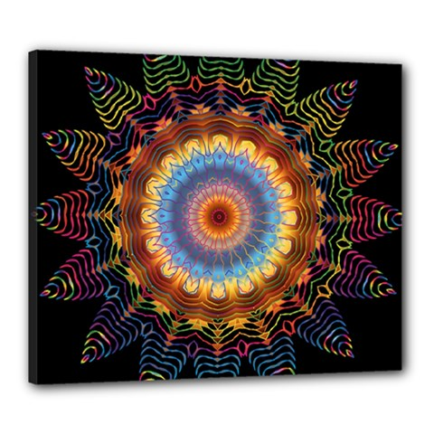 Colorful Prismatic Chromatic Canvas 24  X 20  by Celenk
