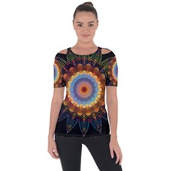 Colorful Prismatic Chromatic Short Sleeve Top