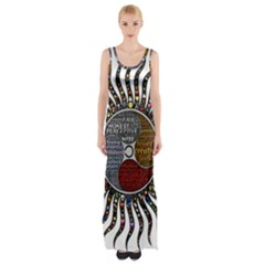 Whole Complete Human Qualities Maxi Thigh Split Dress