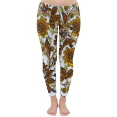 Mandala Metallizer Art Factory Classic Winter Leggings by Celenk