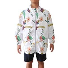 Floral Backdrop Pattern Flower Wind Breaker (kids)