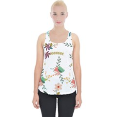 Floral Backdrop Pattern Flower Piece Up Tank Top