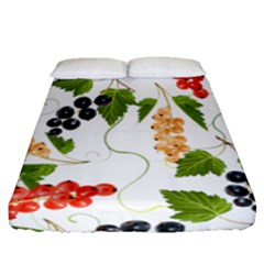 Juicy Currants Fitted Sheet (queen Size) by TKKdesignsCo