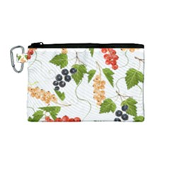 Juicy Currants Canvas Cosmetic Bag (medium) by TKKdesignsCo