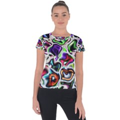 Background Texture Pattern Short Sleeve Sports Top  by Celenk