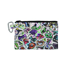 Background Texture Pattern Canvas Cosmetic Bag (small)