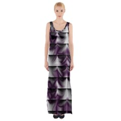 Background Texture Pattern Maxi Thigh Split Dress by Celenk