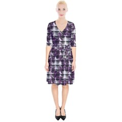 Background Texture Pattern Wrap Up Cocktail Dress