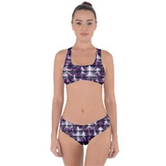 Background Texture Pattern Criss Cross Bikini Set