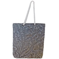 Eiskristalle Hardest Frozen Texture Full Print Rope Handle Tote (large)