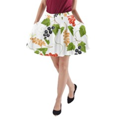 Juicy Currants A Line Pocket Skirt by TKKdesignsCo