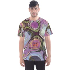 Retro Background Colorful Hippie Men s Sports Mesh Tee