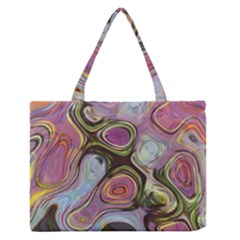 Retro Background Colorful Hippie Zipper Medium Tote Bag by Celenk