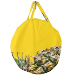 Pineapple Raw Sweet Tropical Food Giant Round Zipper Tote