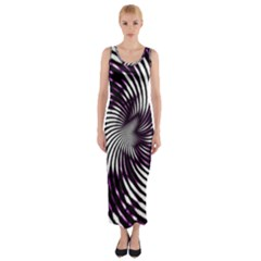 Background Texture Pattern Fitted Maxi Dress by Celenk