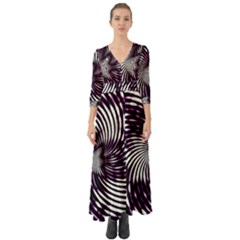 Background Texture Pattern Button Up Boho Maxi Dress by Celenk