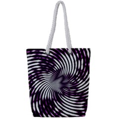 Background Texture Pattern Full Print Rope Handle Tote (small)