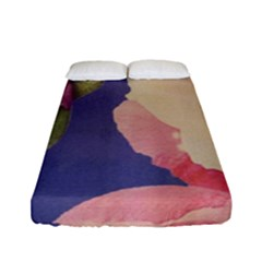 Fabric Textile Abstract Pattern Fitted Sheet (full/ Double Size)