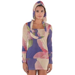 Fabric Textile Abstract Pattern Long Sleeve Hooded T-shirt
